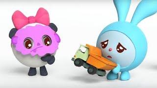 Малышарики -  Упрямица - серия 149 - Обучающие мультфильмы для малышей - автокресло