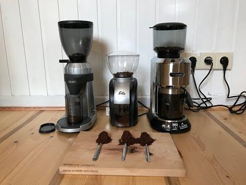 Test welche Kaffeemühle mahlt am feinsten? Graef CM 800, Delonghi Dedica oder Solis Scala?