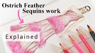 How To Draw Ostrich Feather | Explained | Fashion Illustration