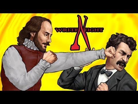 當莎士比亞對上海明威 集結知名作家格鬥遊戲《Write 'n' Fight》