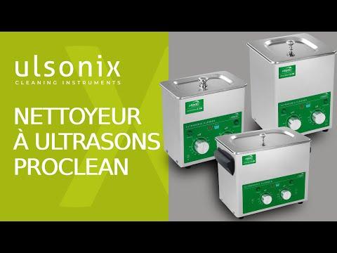 2 L, Puissance dUltrason 60 W, Puissance de Chauffe 50 W, 40 kHz, Minuterie 60 min, Acier Inoxydable Ulsonix PROCLEAN 2.0M ECO Nettoyeur Ultrason Professionnel Bac Ultrason Nettoyage Ultrason