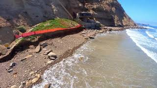 FPV drone diving a cliffside beach elevator at Blacks Beach in La Jolla, CA (Mushroom House)