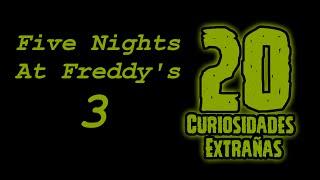 TOP 20: Las 20 Curiosidades Extrañas De Five Nights At Freddy's 3   fnaf 3