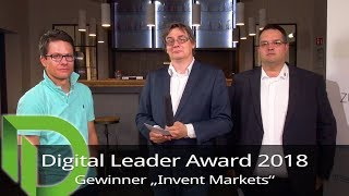 "Digital Leader Award 2018 - Sieger in der Kategorie ""Invent Markets"""