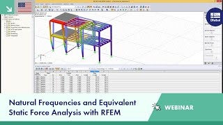Dlubal Webinar: Natural Frequencies and Equivalent Static Force Analysis with RFEM