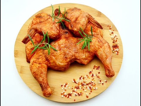 Цыпленок табака от Луча ( chicken tapaka on the grill )