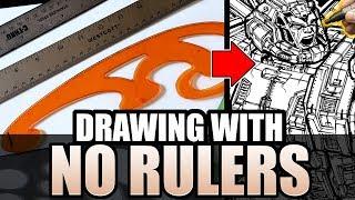 Drawing with NO RULERS Art Challenge! Transformers OMEGA SUPREME VS DEVASTATOR!