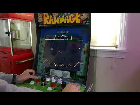 Arcade1UP Rampage Cabinet Modification for Defender Controls