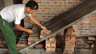 Techniques Construction Stairs Using Brick - Art Laying Bricks On Sloping