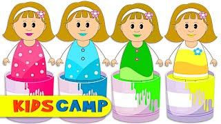 Let's Play With Paints - Learn Colors With House Painting Finger Family Song For Kids