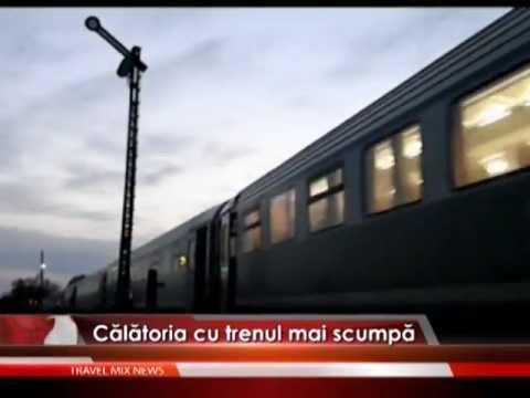 Călătorii mai scumpe cu trenul – VIDEO