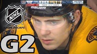 Toronto Maple Leafs vs Boston Bruins. 2018 NHL Playoffs. Round 1. Game 2. 04.14.2018 (HD)