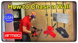 How to Chase a Wall and Fit a Metal Flush Twin Socket Box Using an Armeg Tri Cutter (Full Demo)