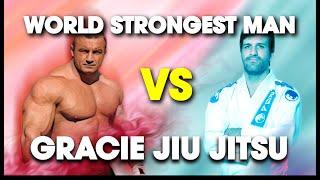 Worlds Strongest Man Vs Rolles Gracie 4th Degree BJJ Blackbelt  Lawrence Kenshin
