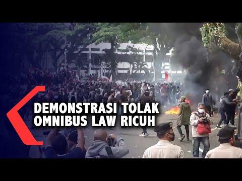 demonstrasi tolak omnibus law di malang ricuh