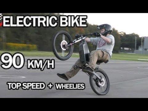 Electric Bike 90km/h Top Speed + Wheelies   Stealth Electric Bikes