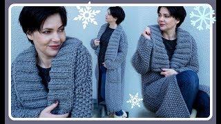 Langer Mantel stricken - einfache Anleitung für Anfänger - Häkeln und Stricken