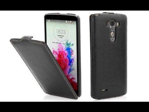 """Handyhülle für LG G3 """"UltraSlim"""" aus echtem Leder von StilGut"""