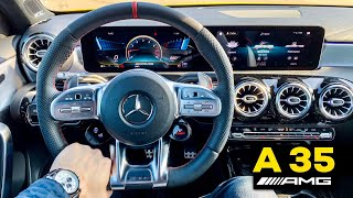 2019 MERCEDES AMG A35 Full Interior Review MBUX Infotainment Performance Seats Burmerster