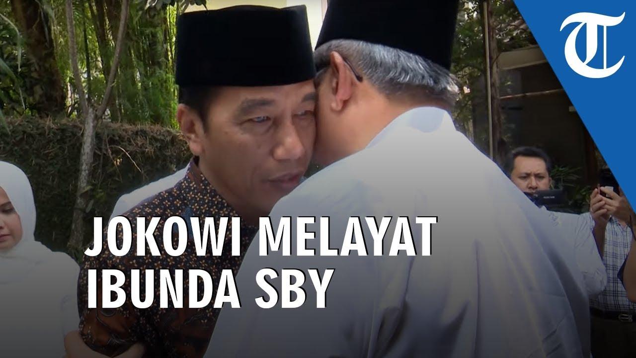Sampaikan Belasungkawa Presiden Jokowi Melayat Ibunda Sby