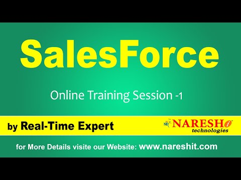 SalesForce CRM Online Training | Session-1 - YouTube