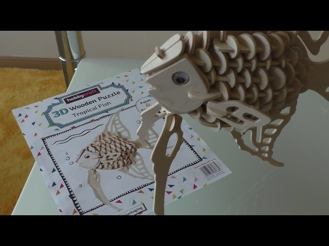 Craft kits: Hobbycraft 3D Wooden Puzzle Tropical Fish (building guide)