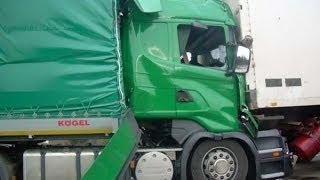 Смотреть онлайн Подборка жутких аварий: отказали тормоза