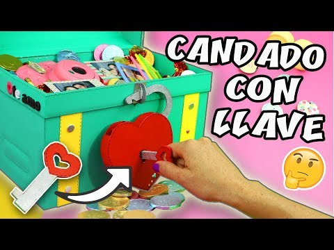 HAZ UN REGALO CON CANDADO Y LLAVE - COFRE DEL TESORO | Manualidades aPasos