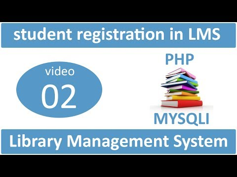 student registration in library management system in PHP