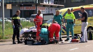 Traumaheli naar ernstig ongeluk met fietser Industrieweg Mijdrecht