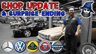 The CAR WIZARD shows a Jag XJ6, Volvo 760, VW Corrado, Lotus Espirit, Chopper Bike & Surprise Ending