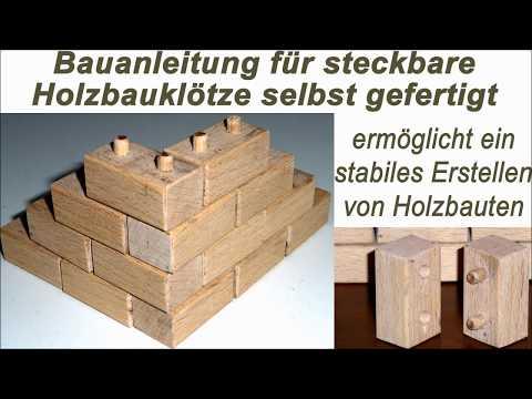 Bausteine aus Holz als Bauklötze selber basteln mit Bauplan