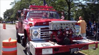 "DELHI VOLUNTEER FIRE DEPARMENT TRUCK 22 AT ""BIKERS FOR BINI"" CARL V. BINI MEMORIAL BENEFIT EVENT."