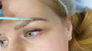 Realism Fluffy Blonde Eyebrows Microblading by El Truchan @ Perfect Definition