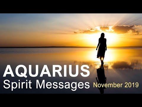 "AQUARIUS 'SPIRIT MESSAGES' - NOVEMBER 2019  ""POWERFUL KARMIC FORCES AQUARIUS; SPREAD YOUR WINGS"""