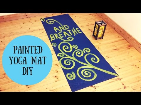 Painted Yoga mat DIY