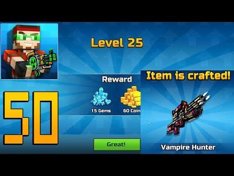 Pixel Gun 3D - Gameplay Walkthrough Part 50 - Vampire Hunter & Level 25