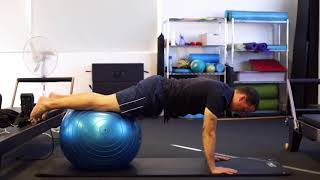 PRONE SWISS BALL CURL - with physiotherapist, Michael Hasson