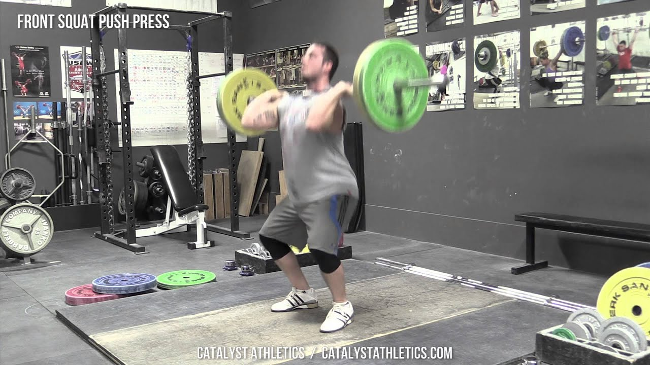 Front Squat Push Press Exercise Library Demo Videos
