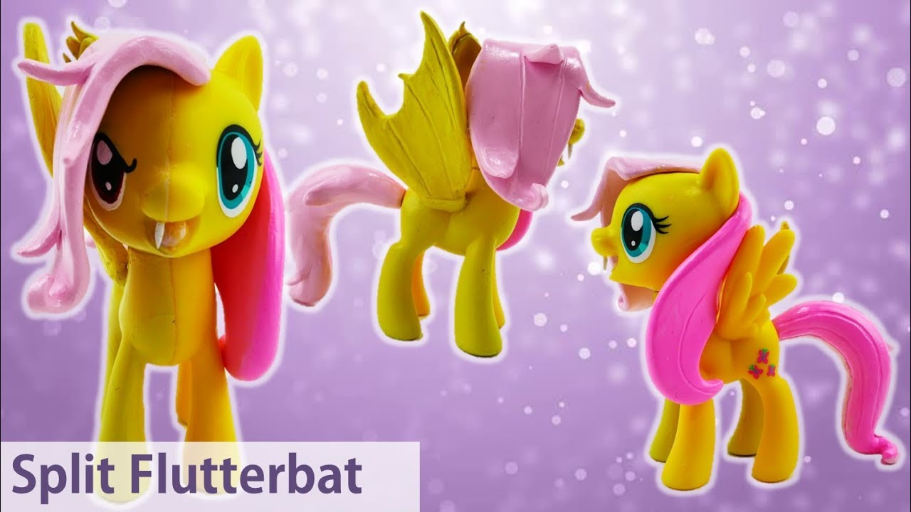Flutterbat Fluttershy Transformation Split My Little Pony Custom