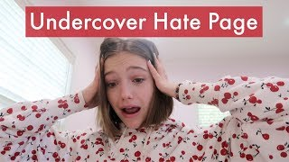 Going Undercover as a Hate Page!    Jayden Bartels