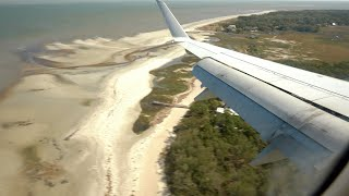 GREAT PILOTING – Strong Crosswind Landing American E170 Hilton Head Island