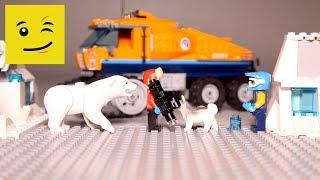 Do Not Enter Polar Bear Property Lego Minifigure Animation from set 60194 Arctic Scout Truck