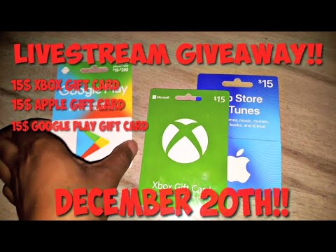 LIVESTREAM GIVEAWAY DECEMBER 20TH!!(XBOX,APPLE,GOOGLE)