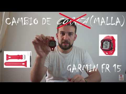 COMO CAMBIAR CORREA RELOJ GARMIN FR15