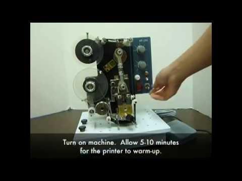 Motorized Ribbon Hot Printing Machine