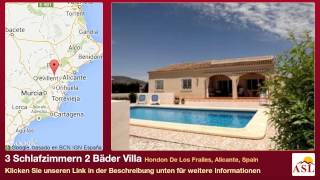 preview picture of video '3 Schlafzimmern 2 Bäder Villa zu verkaufen in Hondon De Los Frailes, Alicante, Spain'