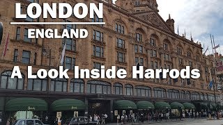 Walking Around HARRODS Shopping Paradise For The Mega Rich In London England STORE TOUR [HD]