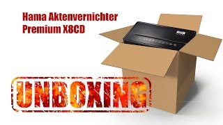 Hama Premium X8CD Aktenvernichter Unboxing