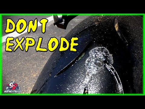 Motorcycle Tire Almost Exploded